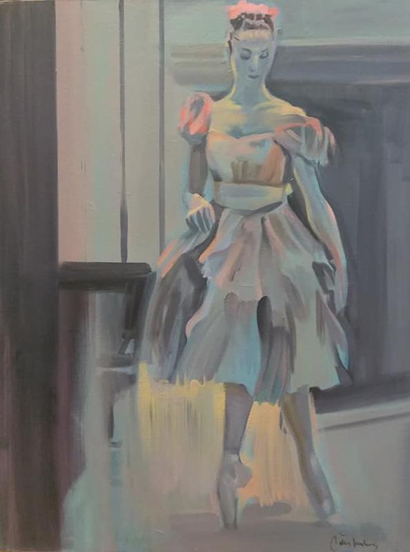 "Original Peter Hurley art - Ballerina Series #11 40""x30"" $1000"