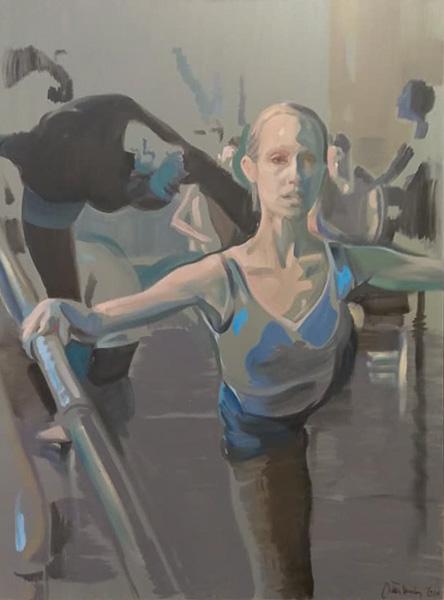 "Original Peter Hurley art - Ballerina Series #3 48""x36"" $1200"