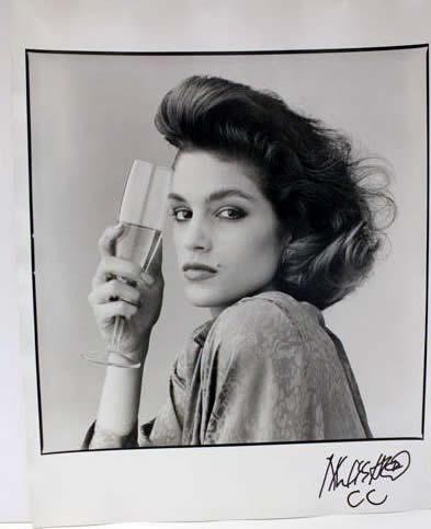 Marc Hauser signed photograph Cindy Crawford 2 Silver Gelatin Fiber Print