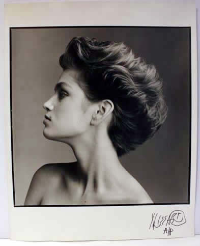 Marc Hauser signed photograph Cindy Crawford 3 Silver Gelatin Fiber Print