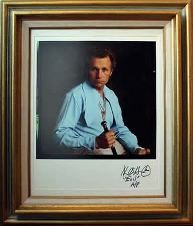 Marc Hauser signed photograph Evil Kenevil Digital Print