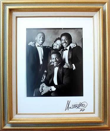 Marc Hauser signed photograph Michael Jordan, M. Hauser, Andre Dawson & Walter Payton Silver Gelatin Fiber Print