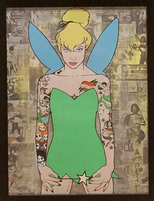 Donald Topp Cartoon Tattoo Hipster Girls - Tinkerbell