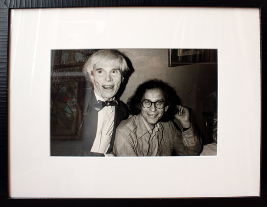 "Original Chris Makos Silver Gelatin Print - Andy Warhol & Christo 19.5""x24.5"" Framed"