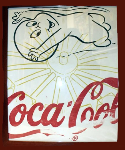 "Peter Mars Serigraph print on fabric -Casper #1 22""x20"" $1000 Framed"
