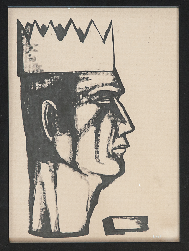 "original matt geer - Potrait of a King 17""x13"""