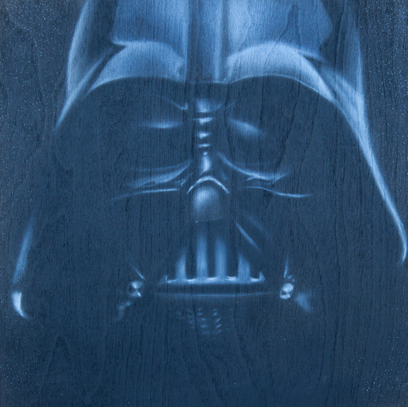 "Ben Laskov - Darth Vader 12""x12"" Airbrush on Board"