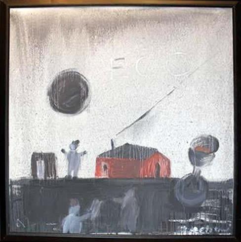 "Jay Steensma Original Art - ""Eco"" Signed Oil on Canvas 54""x44"" Framed $5000"