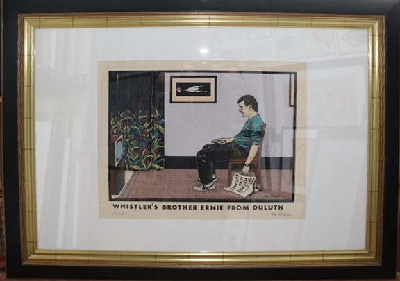 Original Ken Brown Screen Print - whistler's brother ernie from duluth