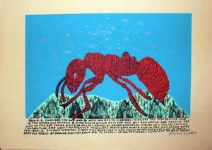 howard finster consider the ant serigraph print
