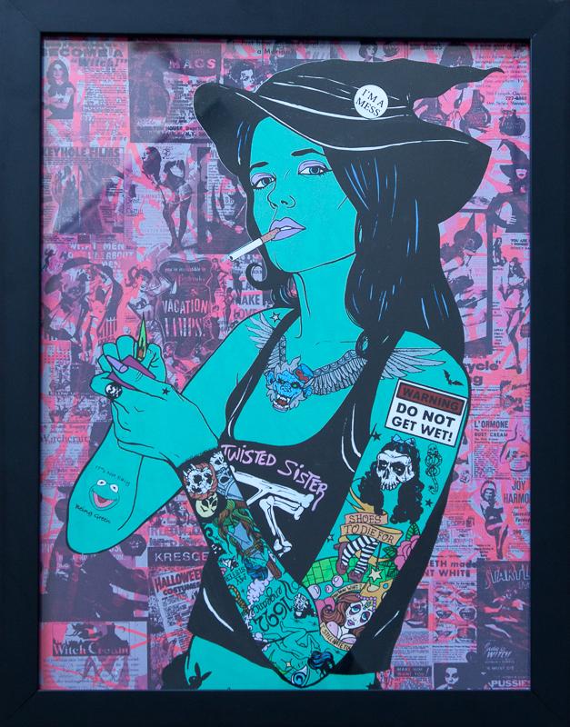 Donald Topp Cartoon Tattoo Hipster Girls - Elphaba