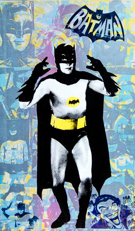 Batman Donald Topp icon print