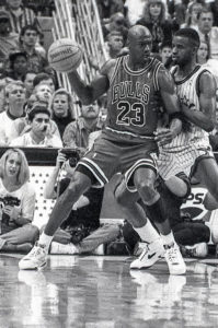 Michael Jordan Larry Singer Sports Celebrity Photograph