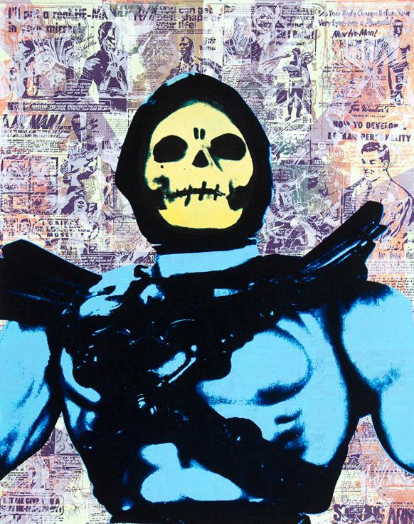 Skeletor Donald Topp cartoon icon print
