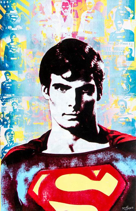 Superman Donald Topp icon print