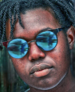 Blue Glasses and Dreadlocks Larry Singer Fine Photography