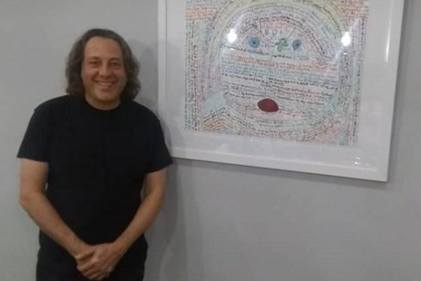 david leonardis with his original art