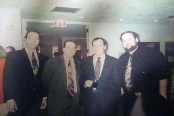 David Leonardis, Chris Peldo, Mayor Richard M. Daley, Marc Hauser. 1992 Chris Peldo was the Absolut Illinois Artist. Note the 3 Marc Hauser ties. Very cool.